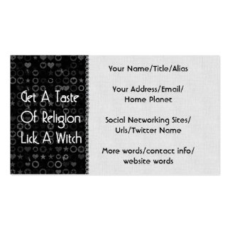 Lick A Witch Business Cards