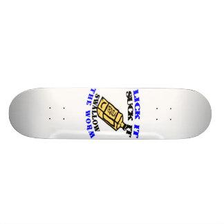 Lick It Suck It Swallow The Worm Skateboard
