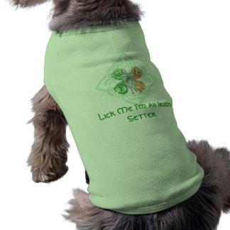 Lick Me I'm an Irish Setter Dog Shirt