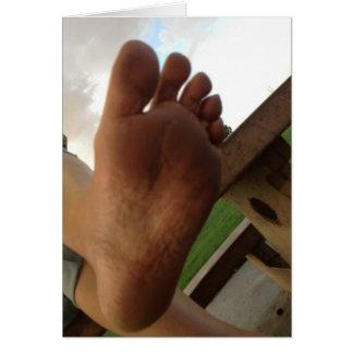 LICK MY FOOT, SLAVE! GREETING CARD