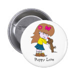Lick, Puppy Love | badge Pinback Button