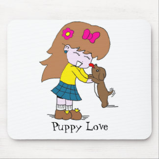 Lick, Puppy Love | mouse pad