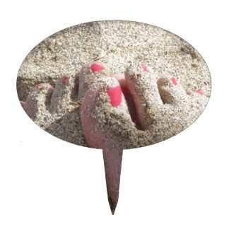 LICK THE SAND OFF MY FEET CAKE TOPPER