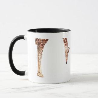 """Licker"" Giraffe Wildlife Animal Watercolor Mug"