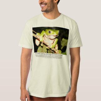 Licking this frog may make you crazy t-shirt