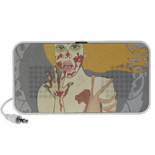 Licking Zombie Girl Travelling Speakers