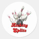 Lickity Split Bowling Classic Round Sticker