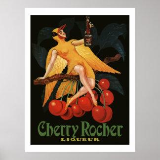Licor 1922 (anuncios franceses de Rocher de la cer Póster