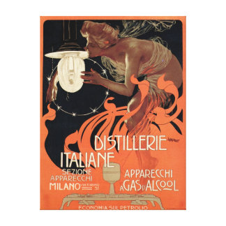 Licor italiano de Nouveau del arte del vintage de Impresion De Lienzo