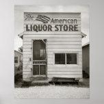 Licorería americana, 1943. Foto del vintage Póster