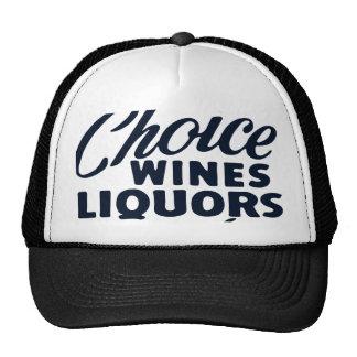 Licores de los vinos bien escogidos gorras de camionero
