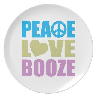 Licores del amor de la paz platos para fiestas