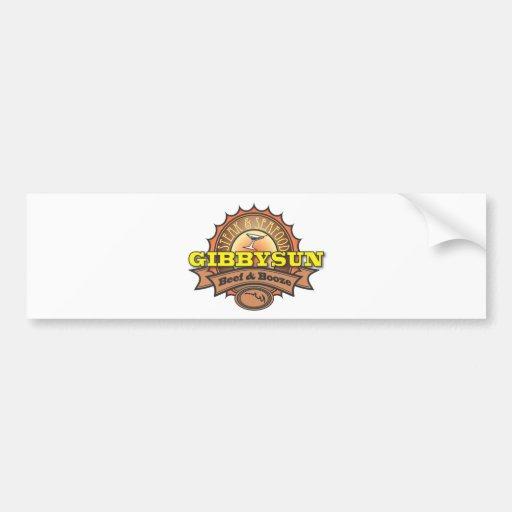 Licores y cerveza de Gibby Sun Pegatina Para Auto