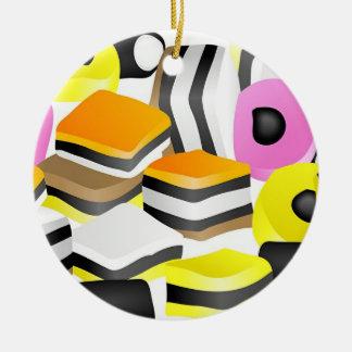 Licorice Allsorts Ceramic Ornament