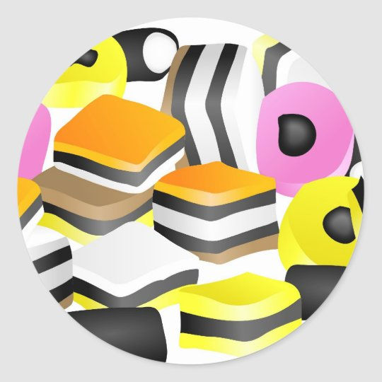 Licorice Allsorts Classic Round Sticker