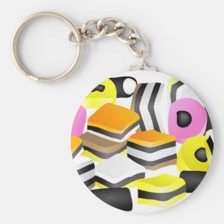 Licorice Allsorts Keychain