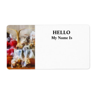 Licorice and Chocolate Covered Peanuts Label