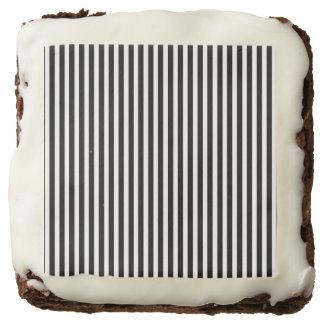 Licorice Black and White Cabana Stripes Brownie