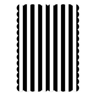 Licorice Black and White Cabana Stripes Card