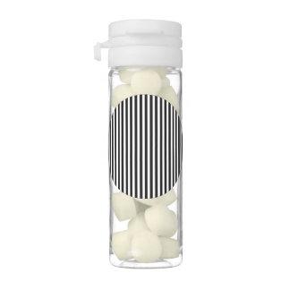 Licorice Black and White Cabana Stripes Gum