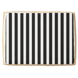 Licorice Black and White Cabana Stripes Jumbo Shortbread Cookie