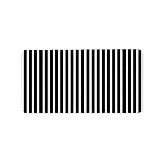 Licorice Black and White Cabana Stripes Label