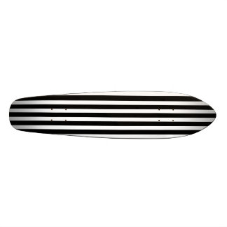 Licorice Black and White Cabana Stripes Skateboard Deck