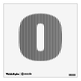 Licorice Black and White Cabana Stripes Wall Sticker