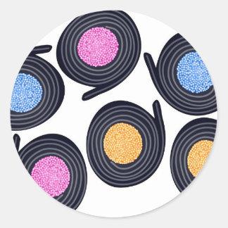 Licorice Catherine Wheels Classic Round Sticker