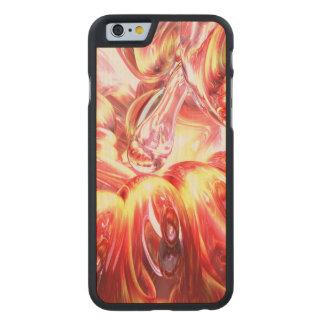 Licorice Euphoria Abstract Carved Maple iPhone 6 Slim Case