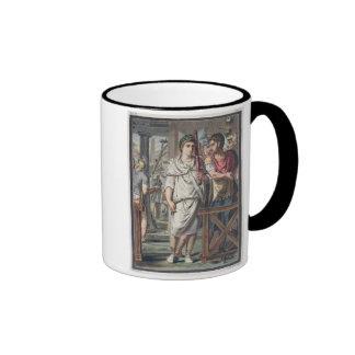Lictores y soldados del Retinue de Titus, co Taza De Dos Colores