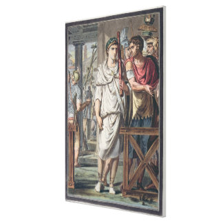 Lictors and Soldiers from the Retinue of Titus, co Canvas Print