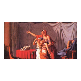 Lictors Brutus Bring His Dead Sons Detail By David Photo Greeting Card