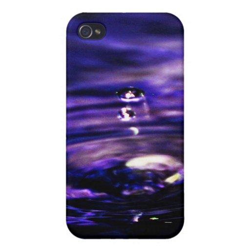 Licue el azul iPhone 4 funda