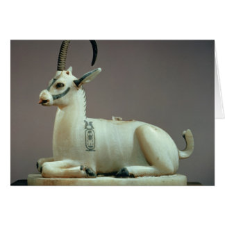 Lid of an unguent jar in the form of an ibex card