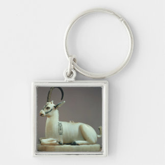 Lid of an unguent jar in the form of an ibex keychain