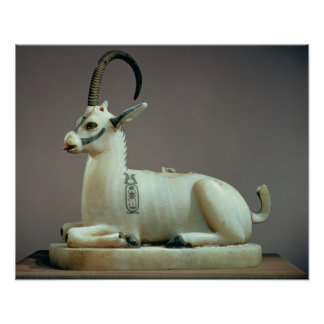 Lid of an unguent jar in the form of an ibex poster