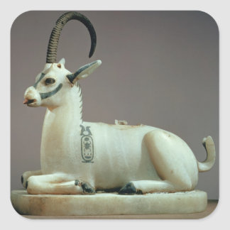 Lid of an unguent jar in the form of an ibex square sticker
