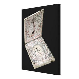 Lidded compass, 1627 canvas print