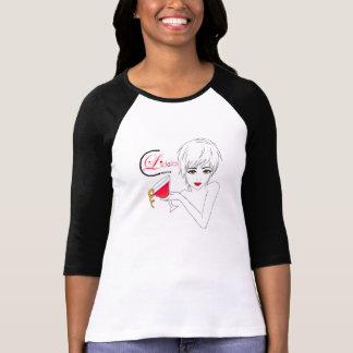 Lidela Cocktail Girl T Shirt