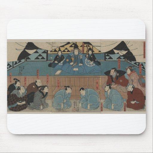 Líder antiguo del samurai circa 1800s tapete de ratones
