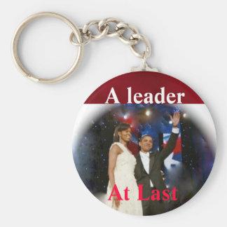 Líder de Barack Obama América Llavero Redondo Tipo Pin