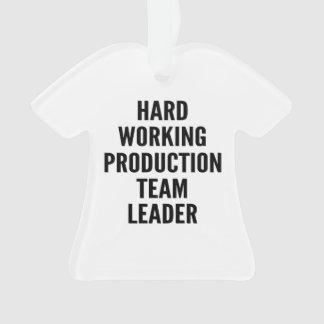 Líder de equipo de trabajo duro de la producción