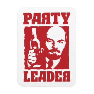Líder de fiesta divertido de Vladimir Ilyich Lenin Imán Rectangular