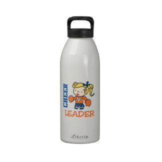 Líder de la alegría botella de agua reutilizable