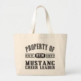 Líder de la alegría del mustango bolsa tela grande
