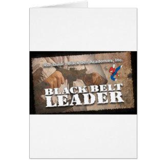 Líder de la correa negra tarjeta de felicitación