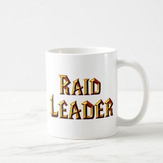 Líder de la incursión tazas de café