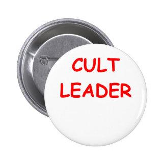 líder del culto pin redondo de 2 pulgadas