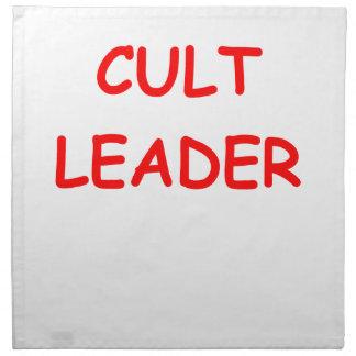 líder del culto servilletas imprimidas